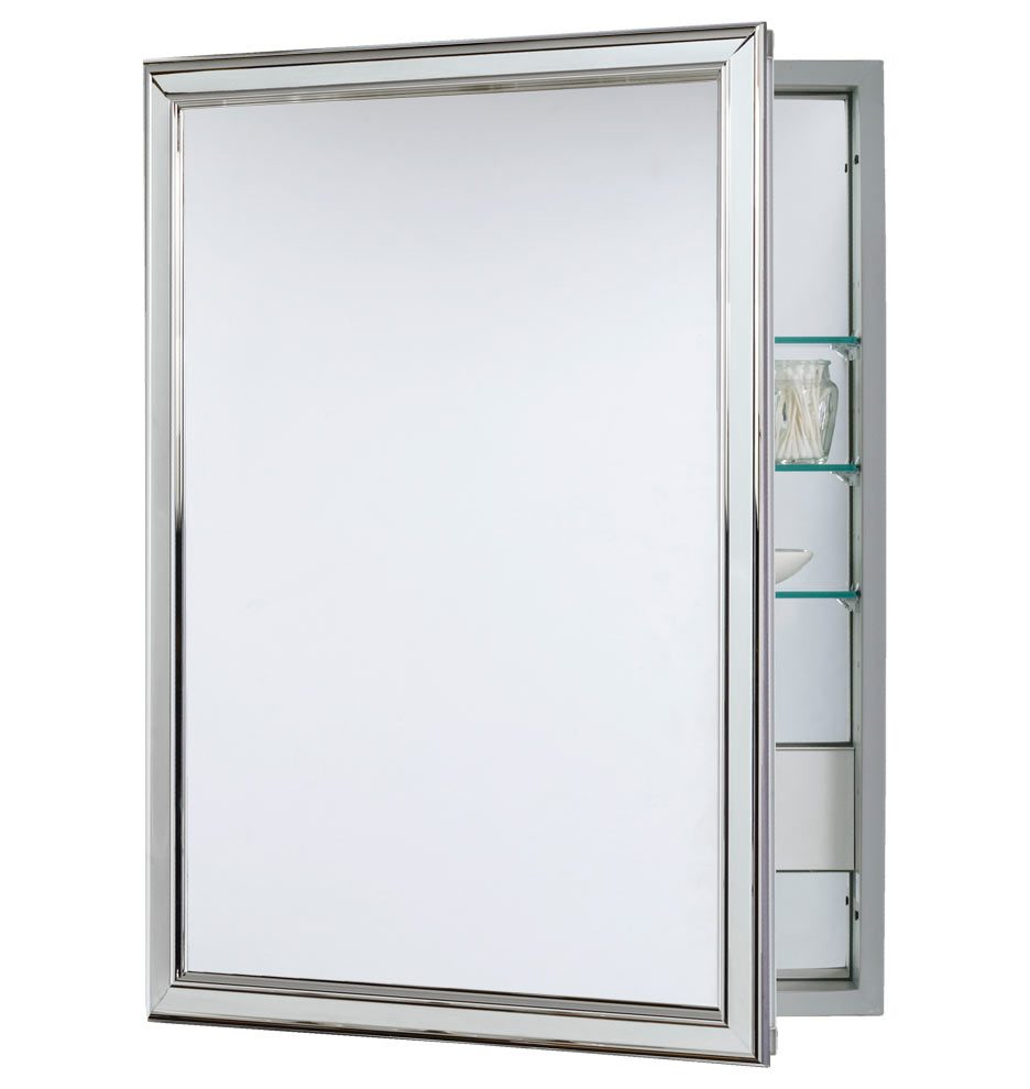Polished Chrome Medicine Cabinet