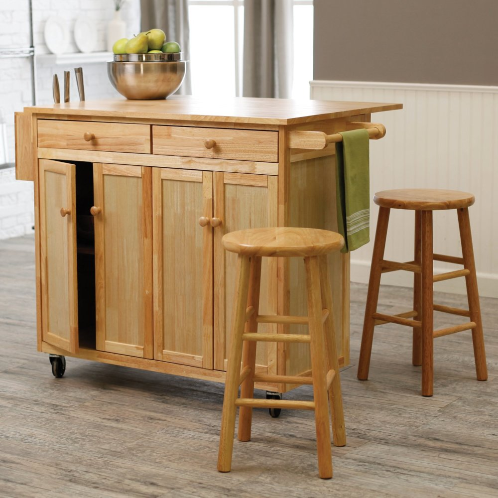 Portable Kitchen Island With Bar Stools