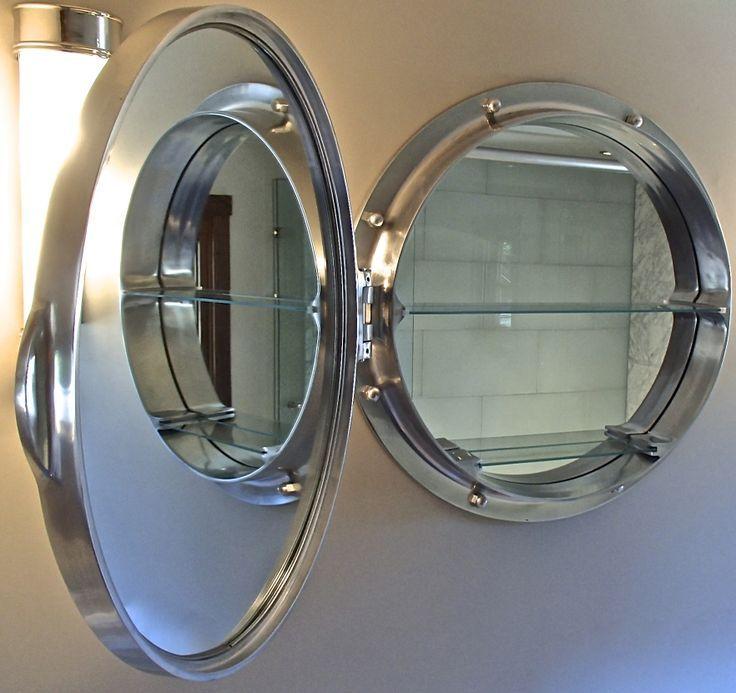 Porthole Mirrored Medicine Cabinet