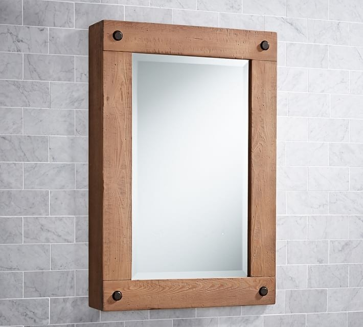 Bathroom Mirrors Amp Medicine Cabinets Pottery Barn In Bathroom Mirror Cabinets