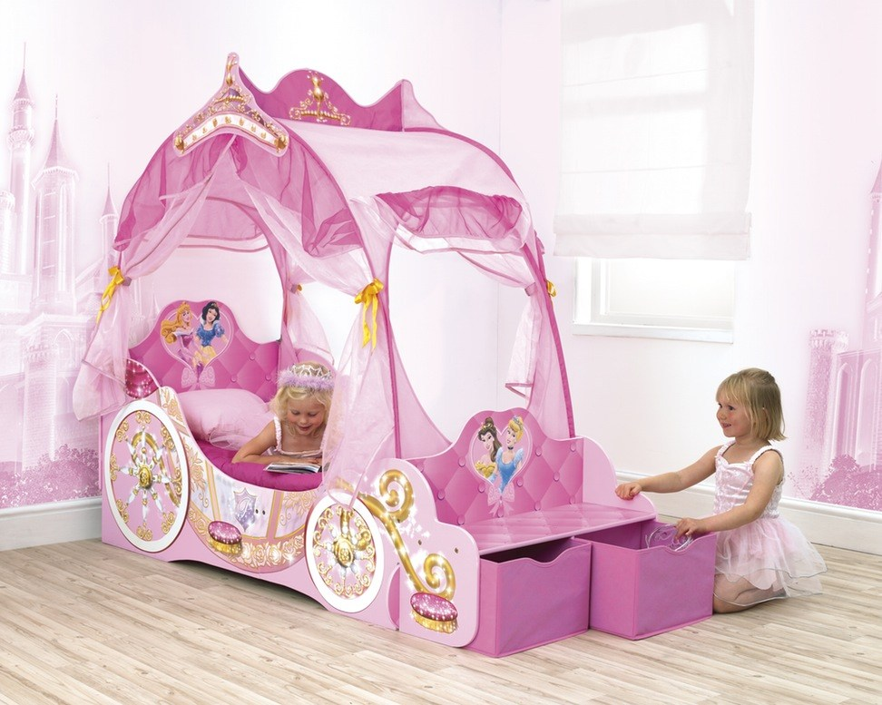 Princess Carriage Toddler Canopy Bed