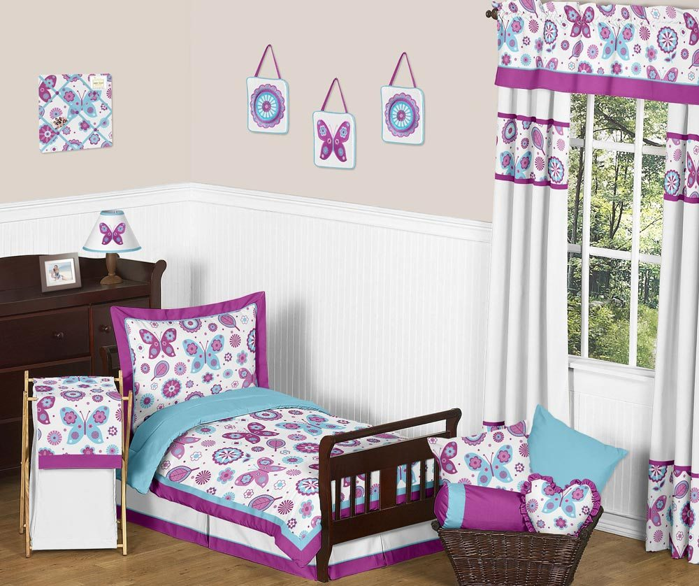 Purple Butterfly Toddler Bedding