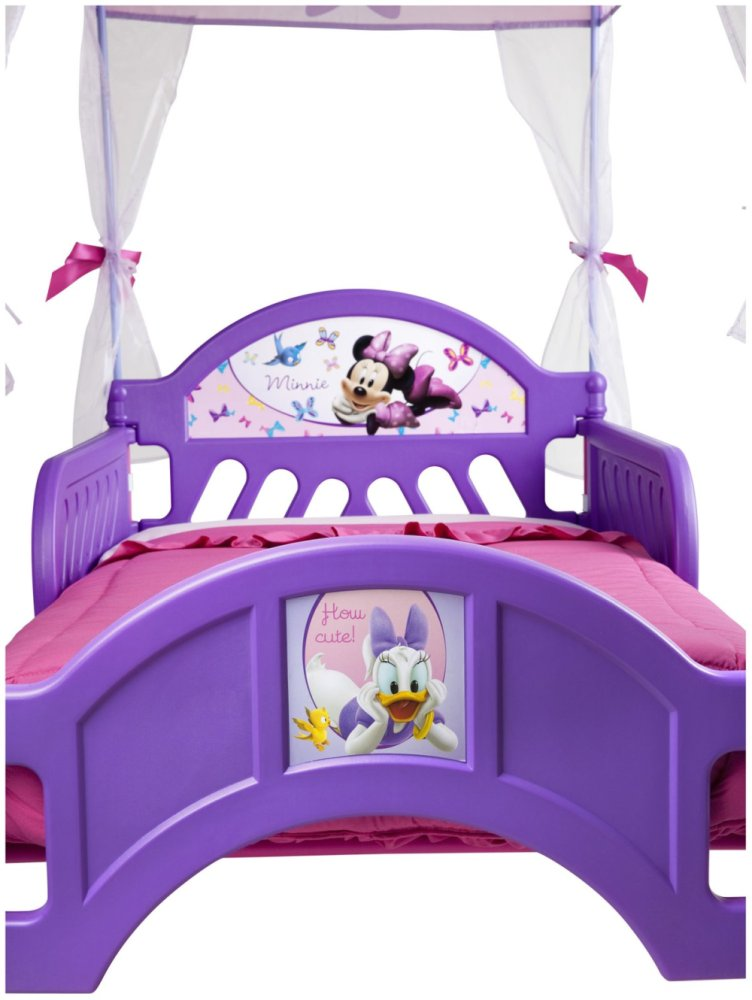 Purple Toddler Bed With Canopy