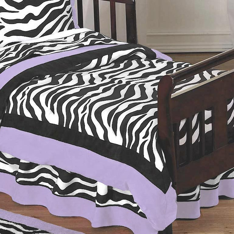 Purple Zebra Toddler Bedding