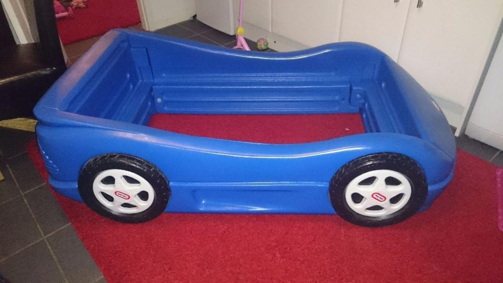 Race Car Toddler Bed Blue