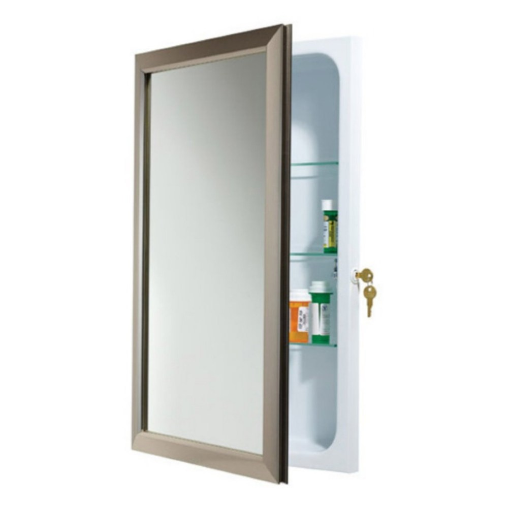 Recessed Framed Mirrored Medicine Cabinet