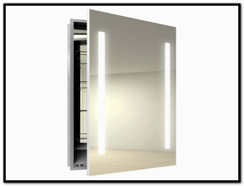 Recessed Medicine Cabinet Mirror Wood