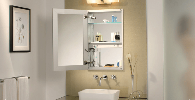 Recessed Medicine Cabinet With Electrical Outlet