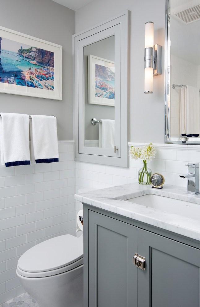 Recessed Medicine Cabinet With Towel Bar