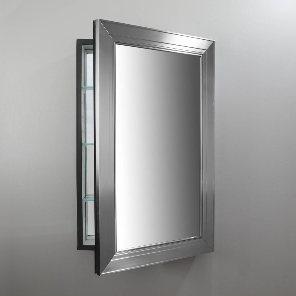 Recessed Mirrored Medicine Cabinet With Lights