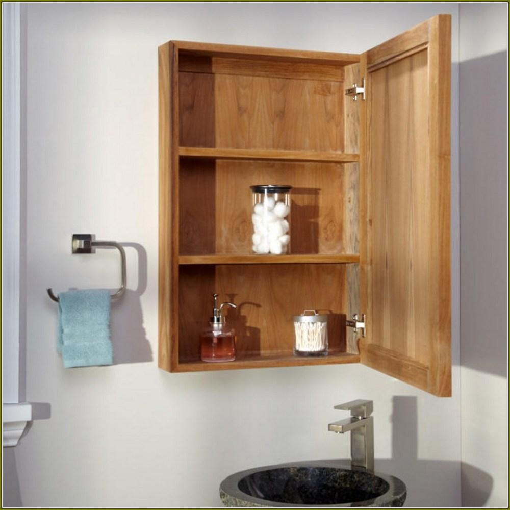 Recessed Wood Medicine Cabinet