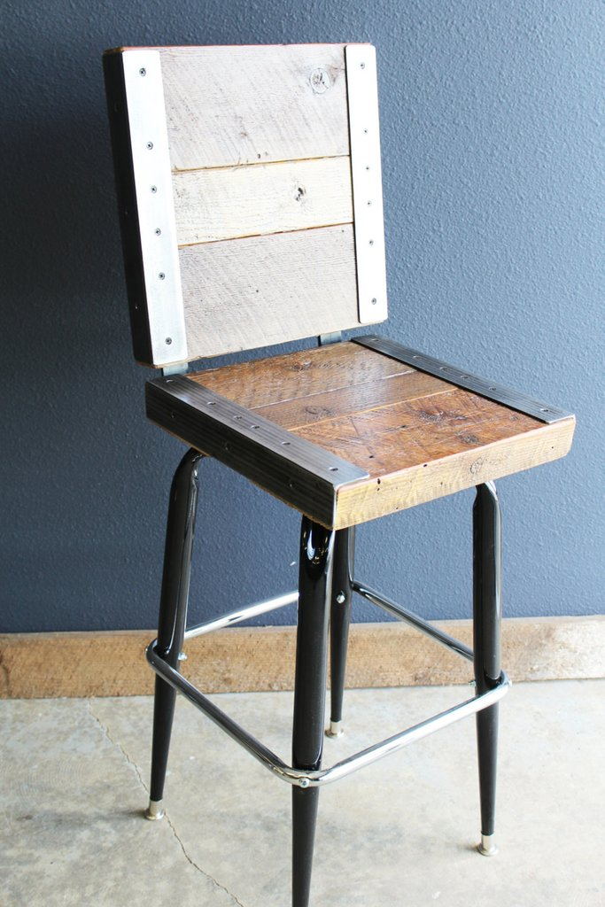 Reclaimed Barn Wood Bar Stools