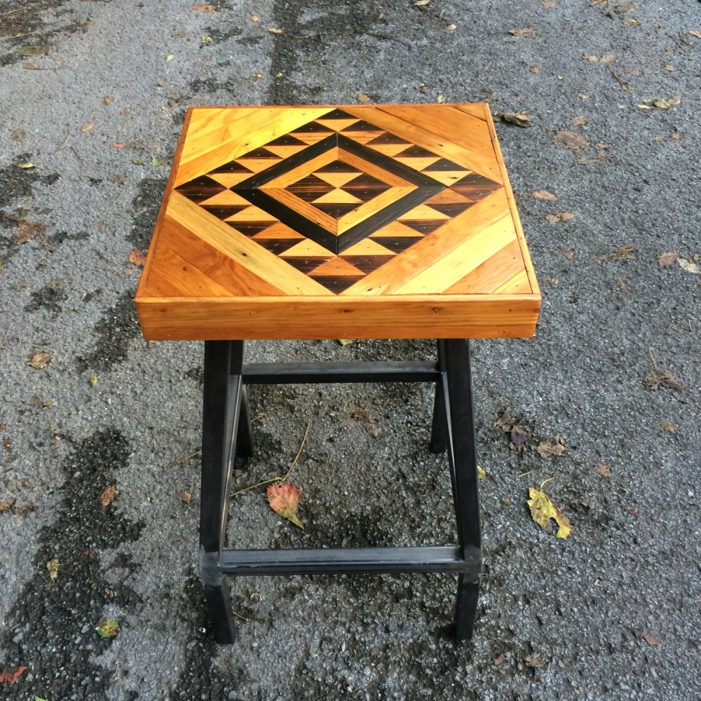 Reclaimed Wood Bar Stools Etsy