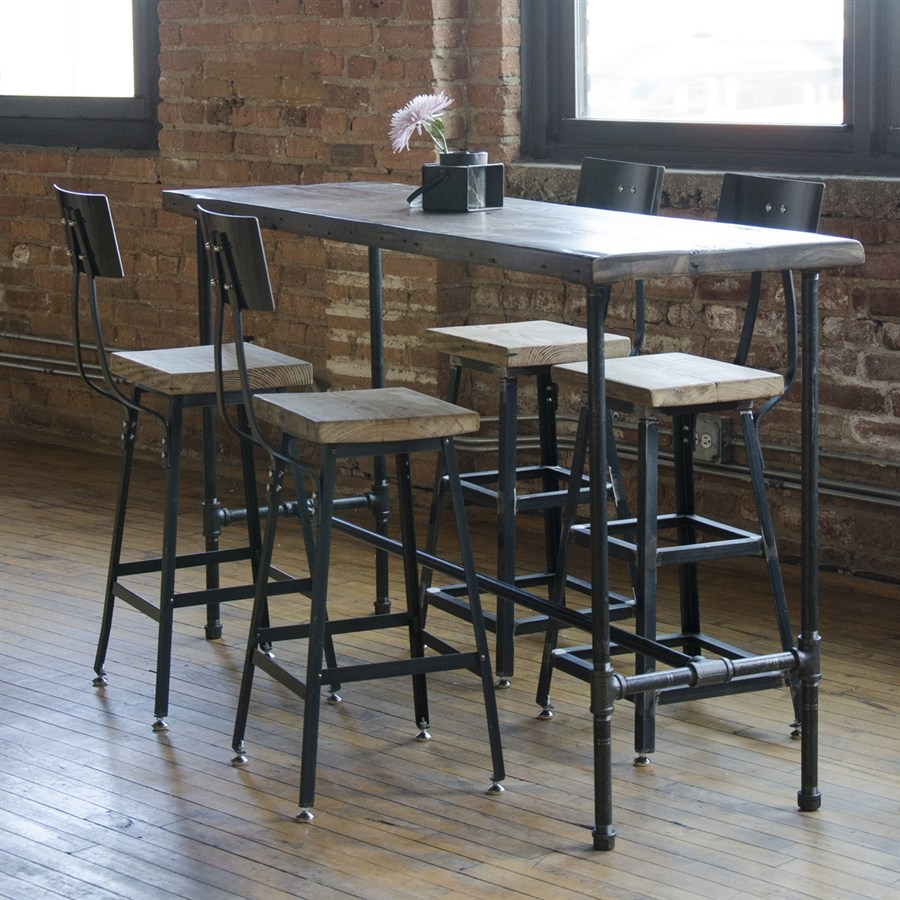 Reclaimed Wood Bar Stools
