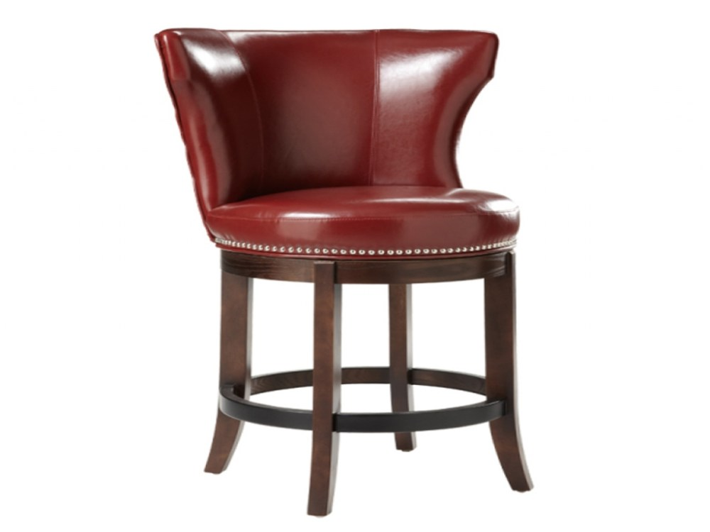 Red Backless Swivel Bar Stools