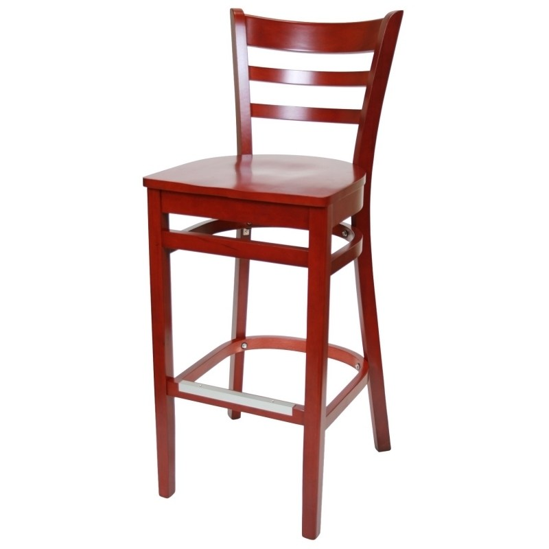 Red Bar Stools No Back