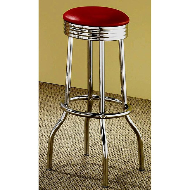 Red Bar Stools Set Of 2