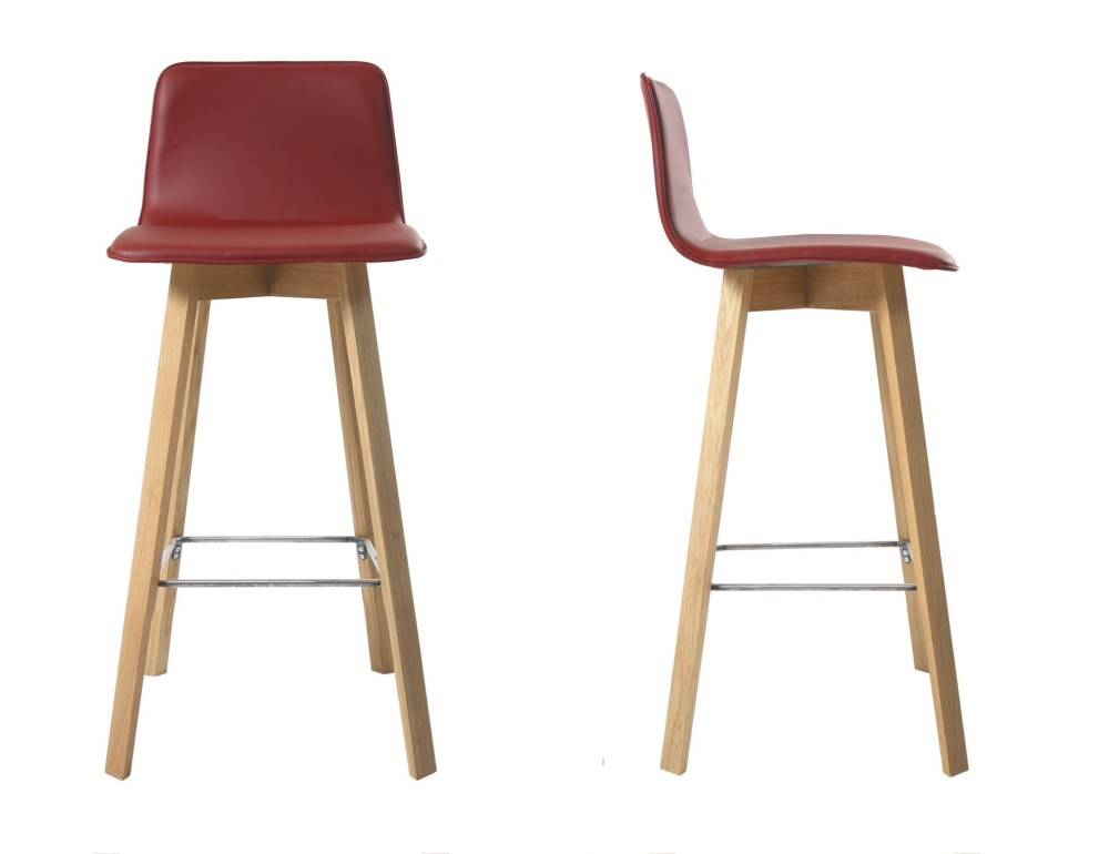 Red Bar Stools With Backs
