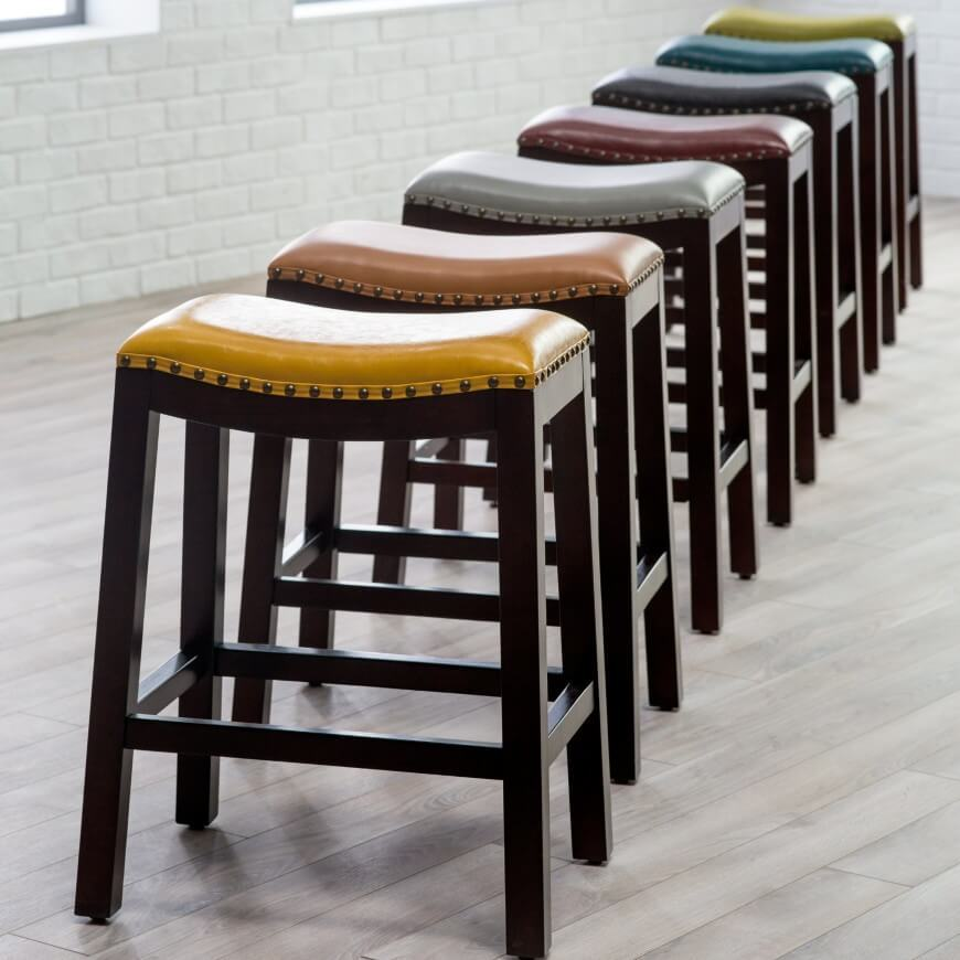 Red Leather Bar Stools 24