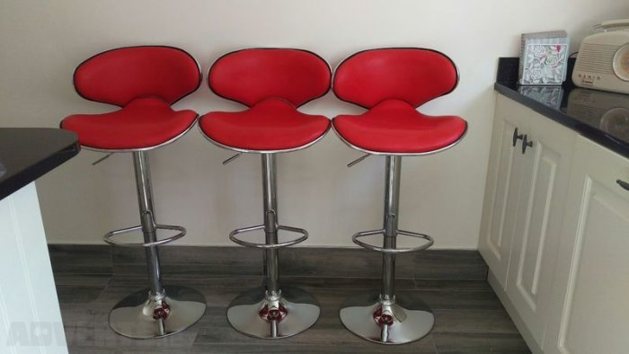 Red Leather Bar Stools For Sale