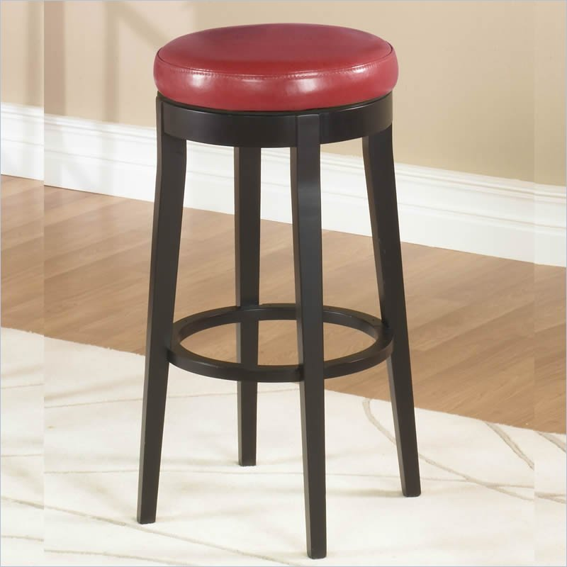 Red Leather Swivel Bar Stools