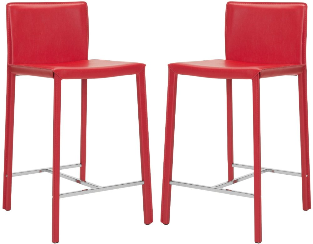 Red Metal Bar Stools With Back