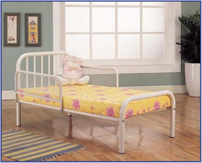 Red Metal Toddler Bed Frame