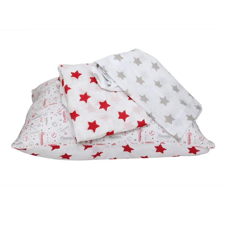 Red Toddler Bed Sheet Set
