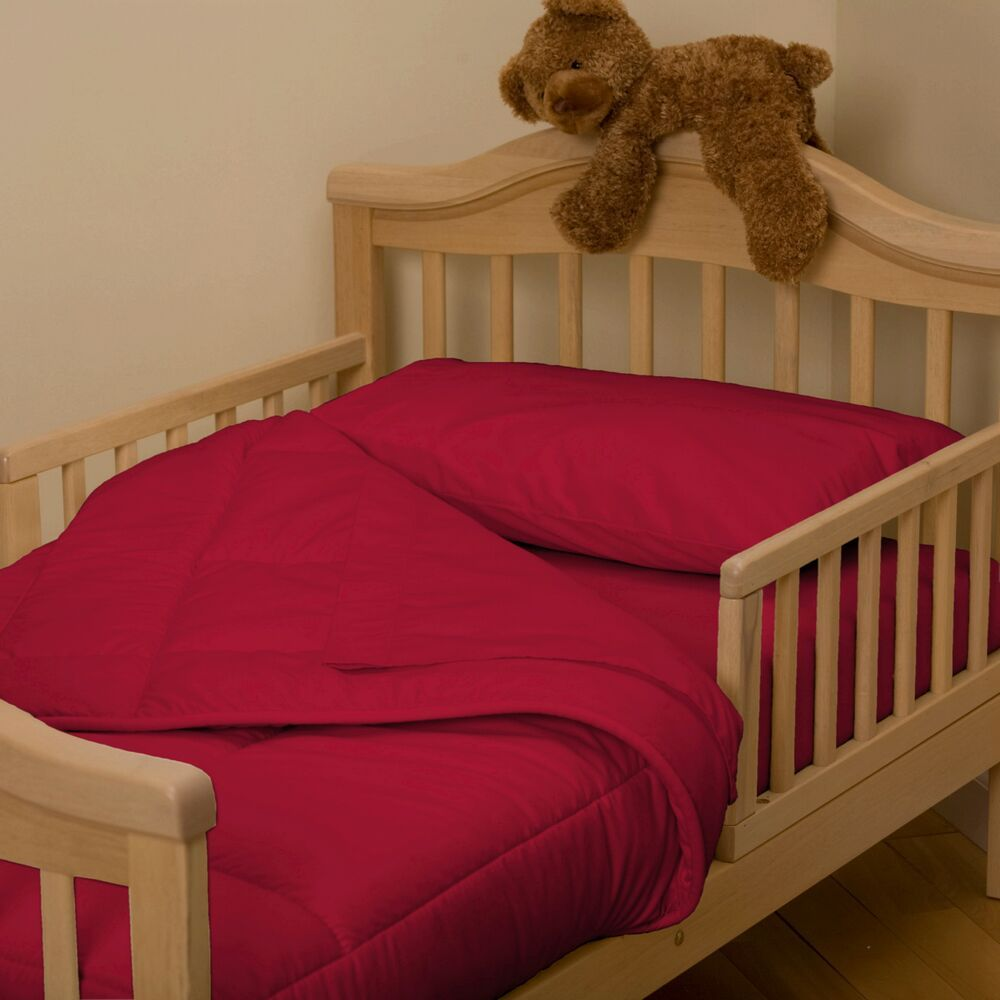Red Toddler Bedding Set
