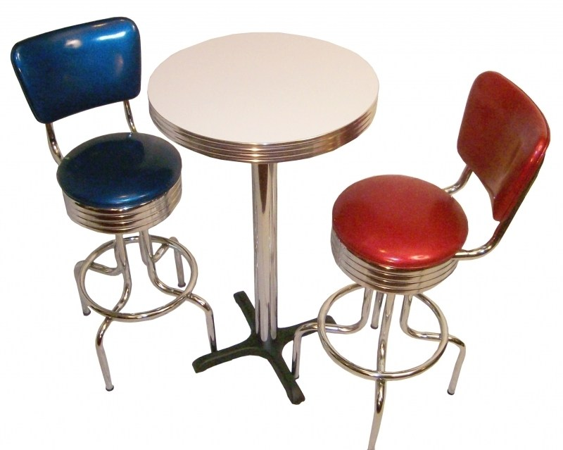 Retro Bar Stools And Table