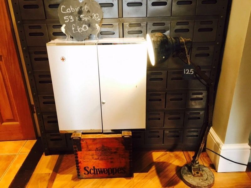 Retro Metal Medicine Cabinet