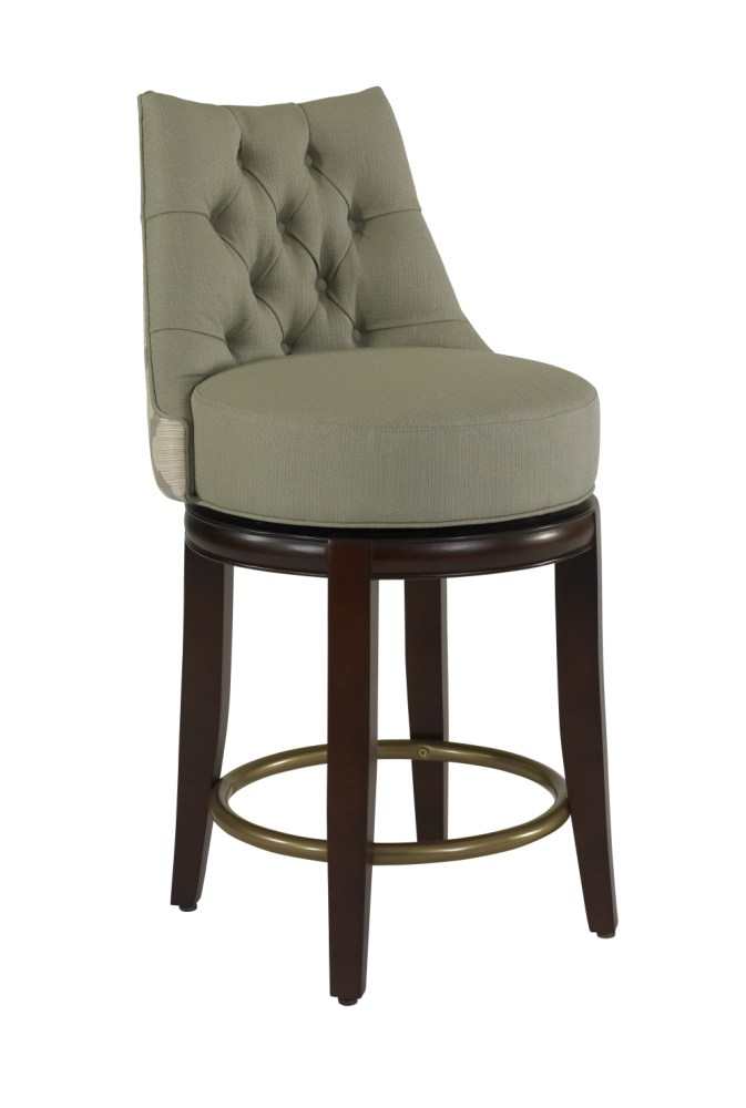 Round Back Swivel Bar Stool