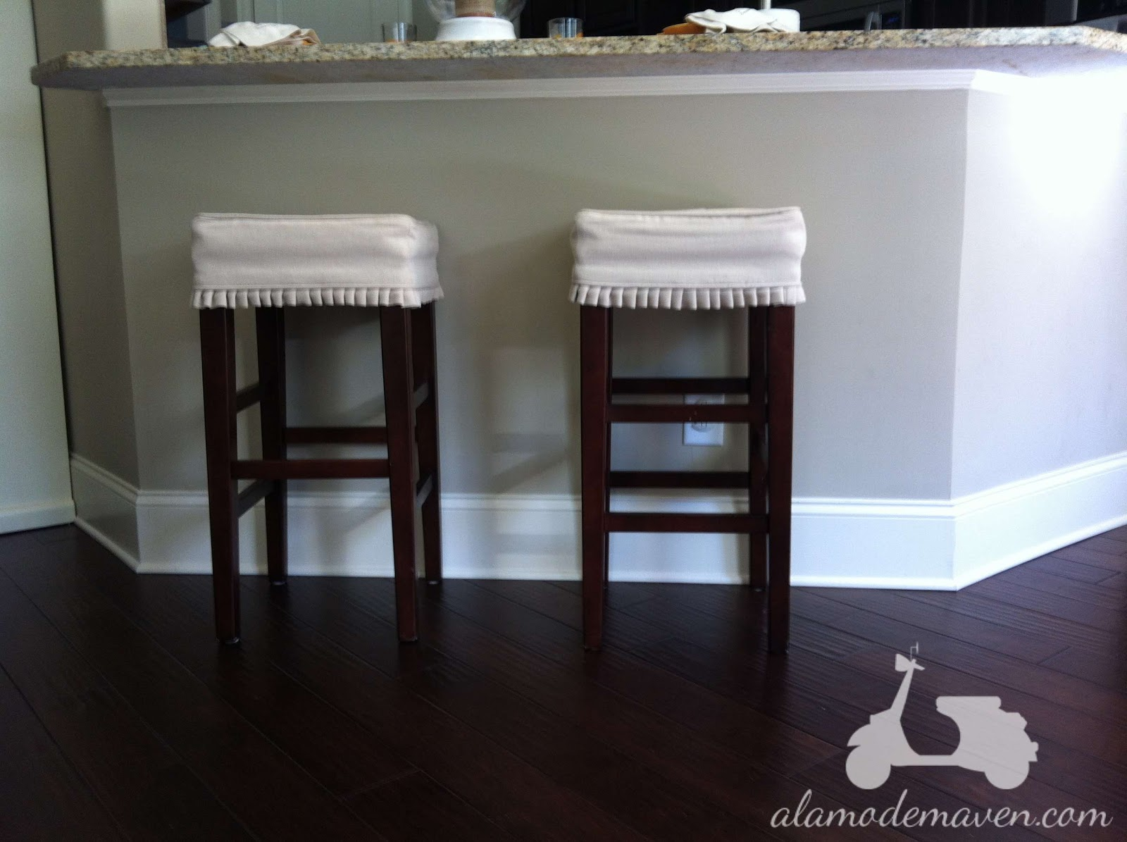 Round Bar Stool Slipcovers