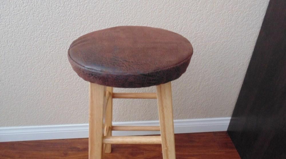 Round Bar Stool With Cushion