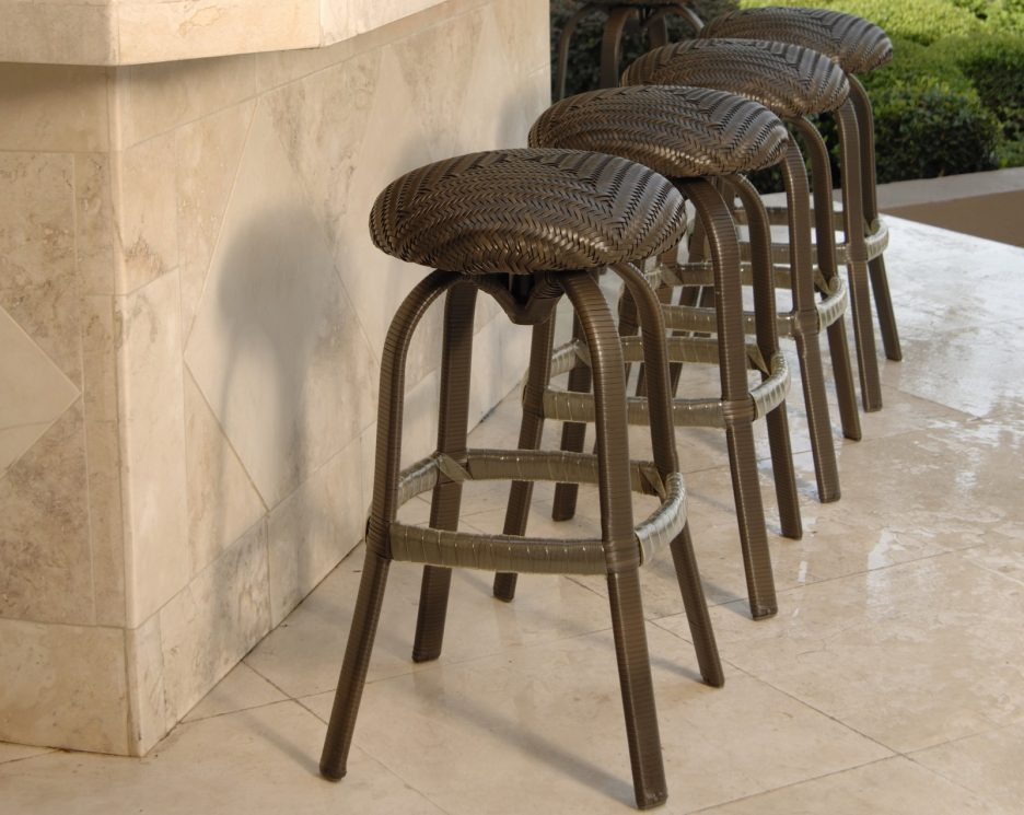 Round Bar Stools No Back