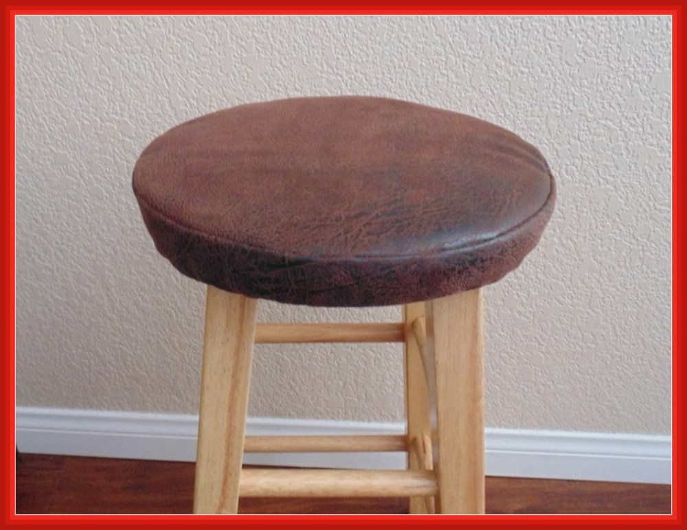 Round Leather Bar Stool Covers