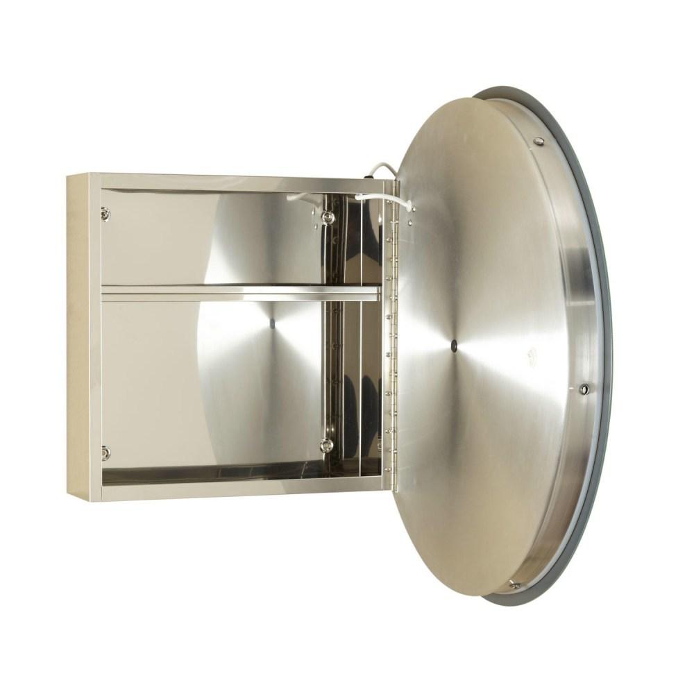 Round Mirror Recessed Medicine Cabinet