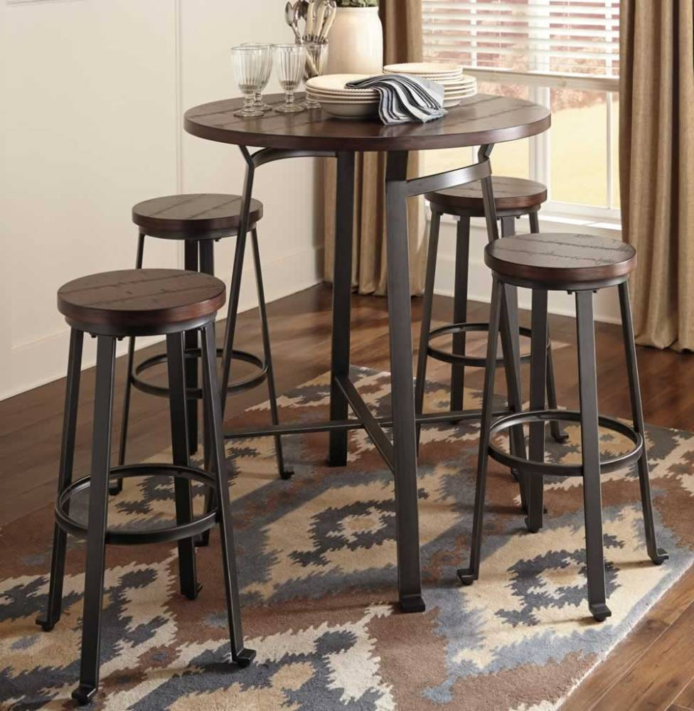 Round Table And Bar Stools