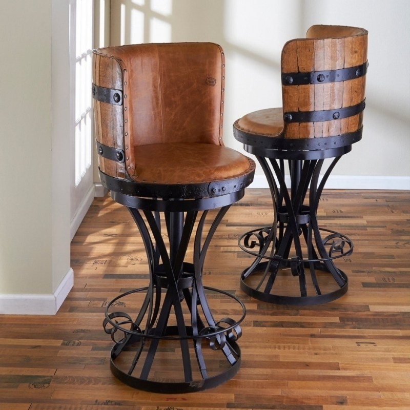 Rustic Bar Stools With Back