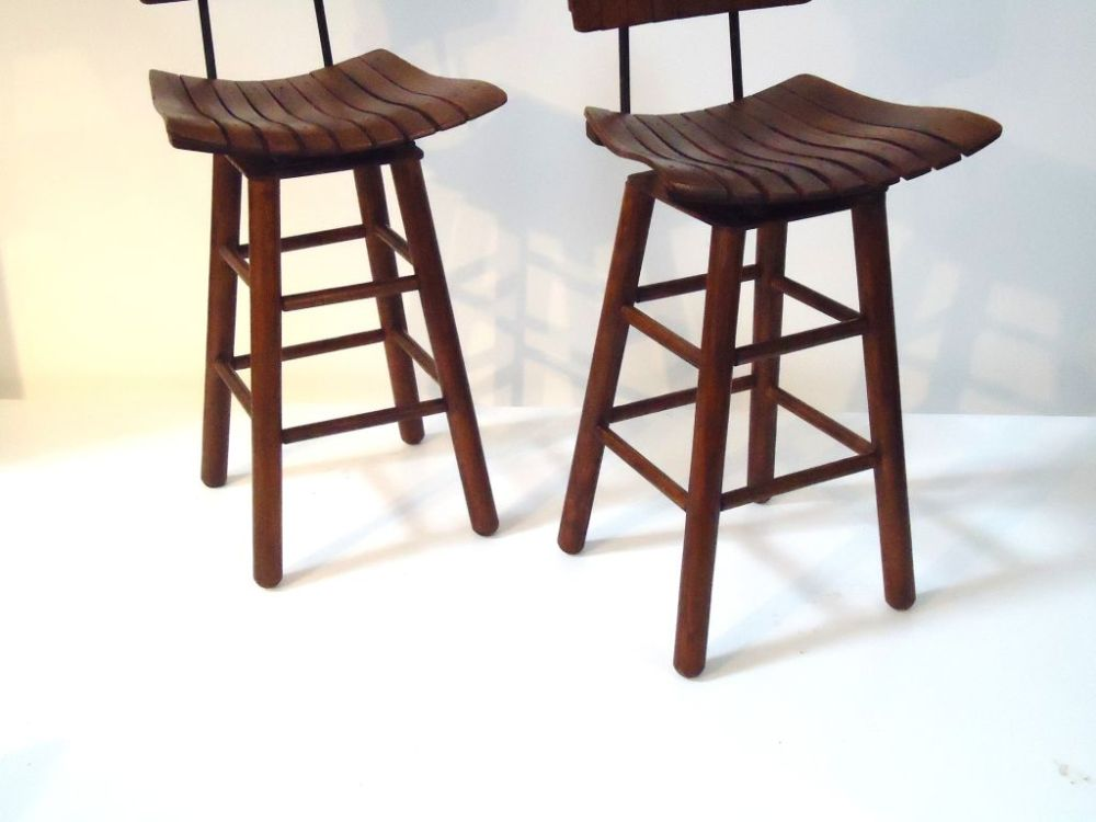 Rustic Bar Stools With Backs
