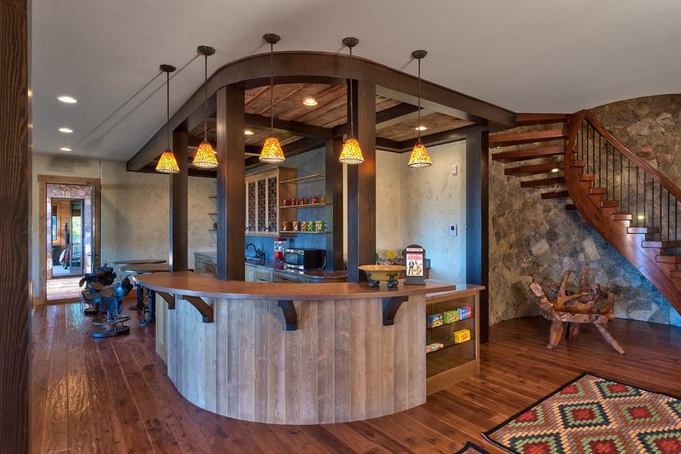 Rustic Barn Wood Bar Stools