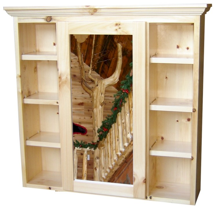 Rustic Pine Medicine Cabinet