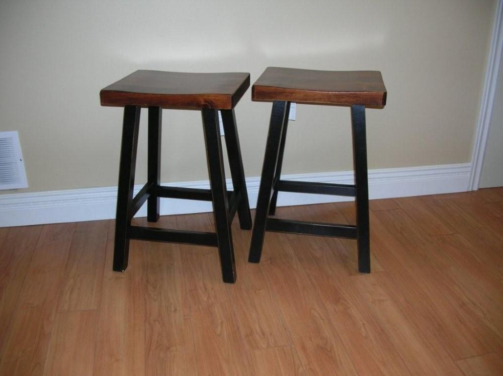 Rustic Wooden Bar Stools