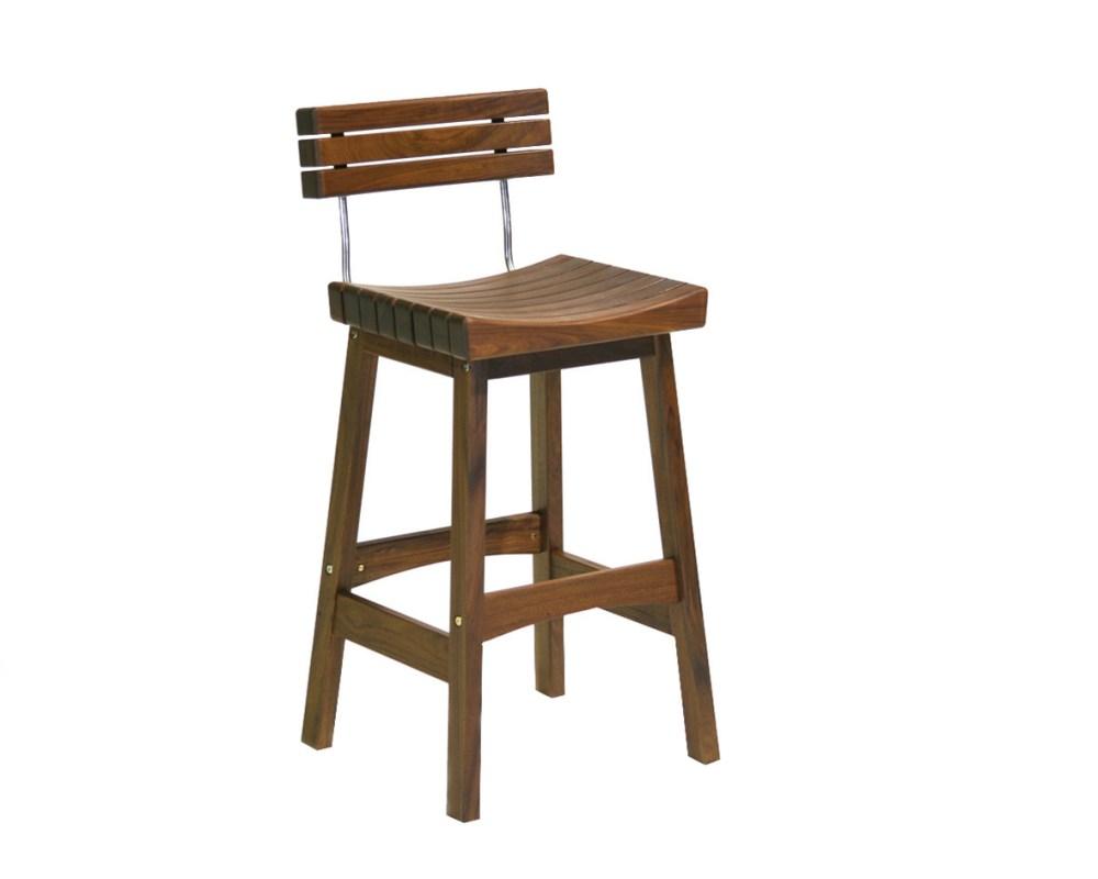 Saddle Seat Bar Stool With Back