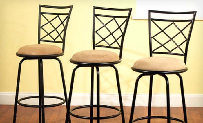 Set Of 3 Adjustable Bar Stools
