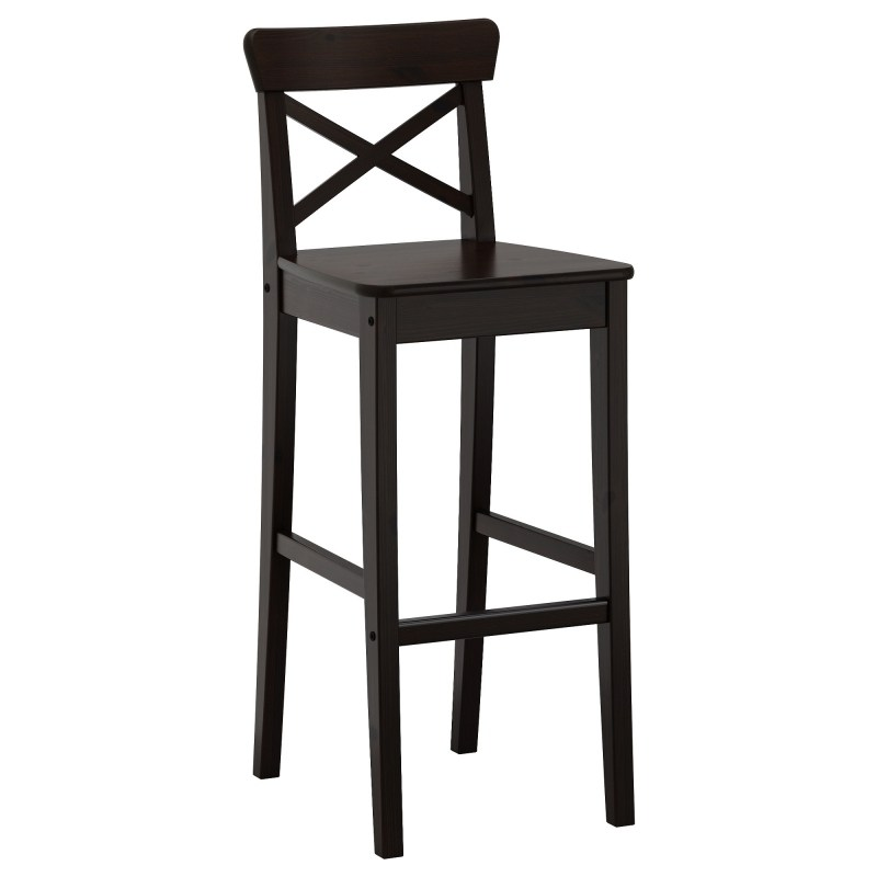 Set Of 3 Bar Stools Black