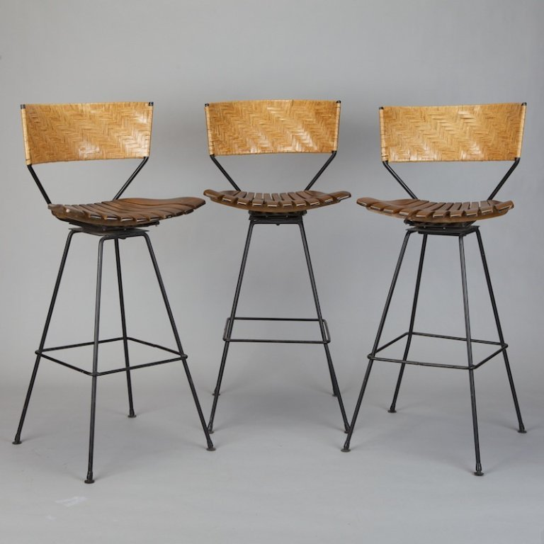 Set Of 3 Swivel Bar Stools