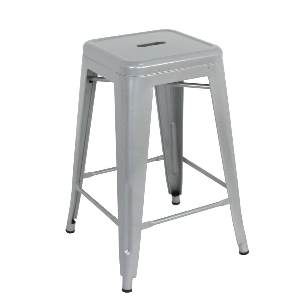 Set Of 4 Backless Bar Stools