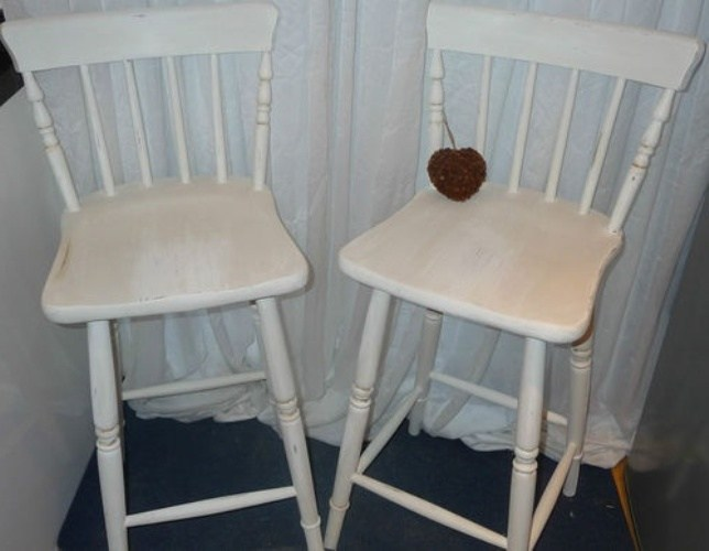 Shabby Chic Bar Stool Covers