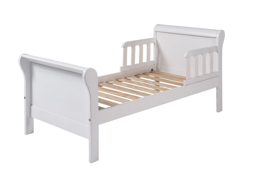 Sleigh Toddler Bed White